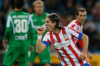 17.01.2013 SPAIN - Copa del Rey Matchday 1/2th  match played between Atletico de Madrid vs Real Betis Balompie (2-0) at Vicente Calderon stadium. The picture show Filipe Luis Karsmirski (Brazilian defender of At. Madrid)