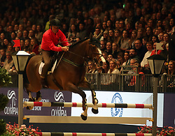 John Francome competes in the Markel Champions Challenge in aid of the Injured Jockeys Fundduring day four of the London International Horse Show at London Olympia. PRESS ASSOCIATION Photo. Picture date: Friday December 15, 2017. See PA story EQUESTRIAN Olympia. Photo credit should read: Steve Parsons/PA Wire
