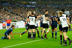 November 11, 2017 - Saint Denis, Seine Saint Denis, France - Joy of the New Zealand team after scoring the try in during the friendly match between France and New Zealand at the Stade de France - St Denis - France.New Zealand beats France 38-18 (Credit Image: © Pierre Stevenin via ZUMA Wire)