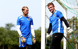 Sam Slocombe and Adam Smith of Bristol Rovers look on  as Bristol Rovers train on their first day in Portugal - Mandatory by-line: Robbie Stephenson/JMP - 18/07/2017 - FOOTBALL - Colina Verde Golf & Sports Resort - Moncarapacho, England - Sky Bet League One