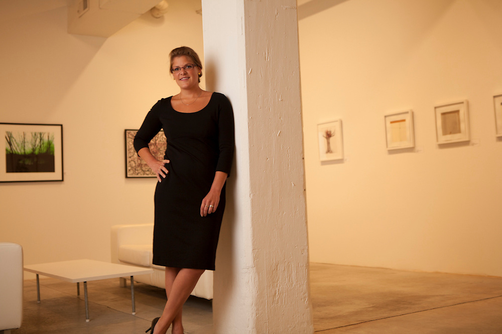 27 July 2012- Justine Petsch is photographed at the Bemis Center for the Omaha Chamber Guide.