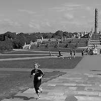 Running the Steps at Vigeland Sculpture Park in Oslo, Norway. Semester at Sea, Spring 2013 Enrichment Voyage Day 32. Image taken with a Leica X2 camera (ISO 200, 24 mm, f/16, 1/1000 sec)