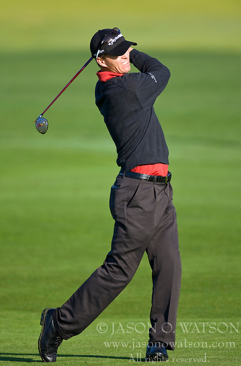 February 14, 2010; Pebble Beach, CA, USA;  John Senden on the second hole during the final round of the AT&T Pebble Beach Pro-Am at Pebble Beach Golf Links.