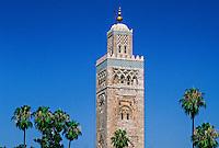 Mosquee Koutoubia (mosque), Marrakech, Morocco