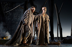 Thebans<br /> by Julian Anderson<br /> Liberetto by Frank McGuinness<br /> English National Opera, London Coliseum, London, Great Britain <br /> rehearsal<br /> 30th April 2014 <br /> <br /> Act I Past: The Fall of Oedipus<br /> Act II Future: Antigone<br /> Act IIIPresent: The Death of Oedipus<br /> <br /> <br /> <br /> Roland Wood as Oedipus<br /> Peter Hoare as Creon<br /> Matthew Best as Tiresias<br /> Susan Bickley as Jocasta<br /> Anthony Gregory as Stranger from Corinth<br /> Paul Sheehan as Shepherd<br /> Christopher Ainslie as Messenger<br /> Julia Sporsen as Antigone<br /> Jonathan McGovern as Polynices<br /> Matt Casey as Eteocles