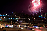 Fireworks in three locations across Ulaanbaatar commemorated the anniversary of the Kalkh River Battle victory.