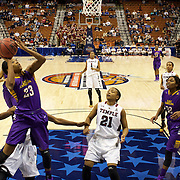 Jada Payne, East Carolina, shoots during the Temple Vs East Carolina Quarterfinal Basketball game during the American Athletics Conference Women's College Basketball Championships 2015 at Mohegan Sun Arena, Uncasville, Connecticut, USA. 7th March 2015. Photo Tim Clayton