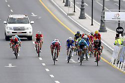 February 14, 2018 - Muscat, Oman - MUSCAT, SULTANATE OF OMAN - FEBRUARY 14 : HAAS Nathan  (AUS)  of Team Katusha Alpecin, VAN AVERMAET Greg  (BEL)  of BMC Racing Team, LUTSENKO Alexey  (KAZ)  of Astana Pro Team, DEVENYNS Dries  (BEL)  of Quick - Step Floors, KUDUS Merhawi  (ERI)  of Team Dimension Data, TERPSTRA Niki  (NED)  of Quick - Step Floors, IZAGIRRE INSAUSTI Gorka  (ESP)  of Bahrain - Merida during stage 2 of the 9th edition of the 2018 Tour of Oman cycling race, a stage of 167.5 kms between Sultan Qaboos University and Al Bustan on February 14, 2018 in Muscat, Sultanate Of Oman, 14/02/2018 (Credit Image: © Panoramic via ZUMA Press)