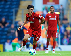 BLACKBURN, ENGLAND - Thursday, July 19, 2018: Liverpool's Curtis Jones during a preseason friendly match between Blackburn Rovers FC and Liverpool FC at Ewood Park. (Pic by Paul Greenwood/Propaganda)