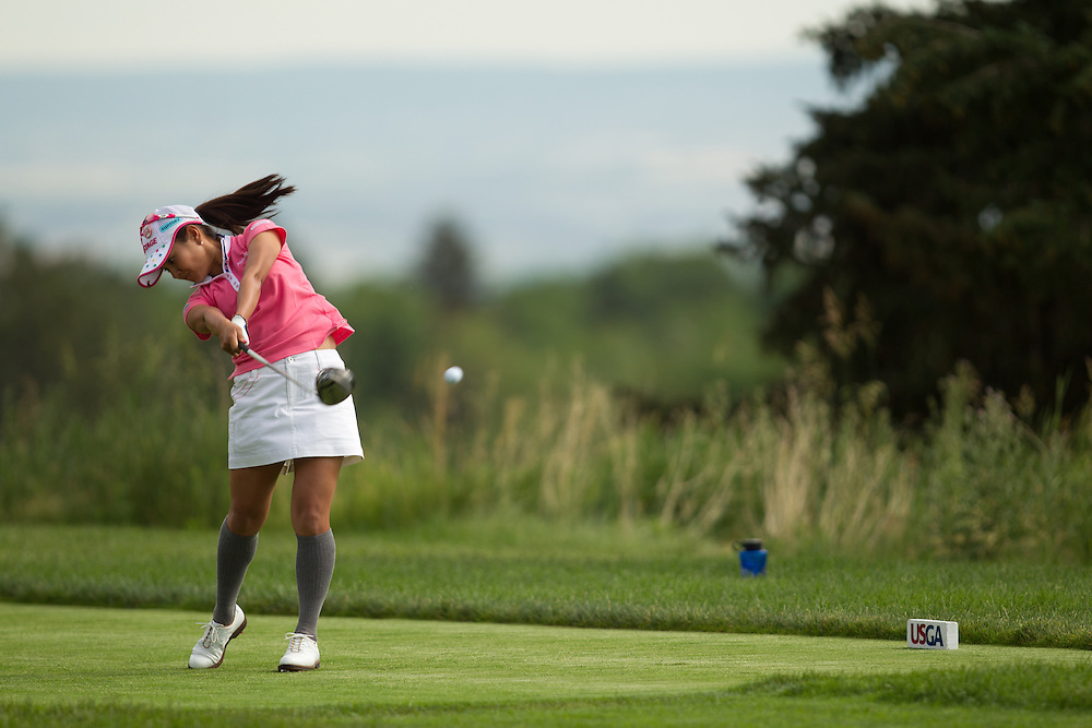 COLORADO SPRINGS, CO - JULY 10: Ai Miyazato of Japan plays a shot during the final round of the United States Women's Open Championship at the Broadmoor East Course in Colorado Springs, Colorado on July 10, 2011. (Photo by Darren Carroll) *** Local Caption *** Ai Miyazato