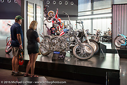 Captain America replica bike on display at the Harley-Davidson Museum during the Milwaukee Rally. Milwaukee, WI, USA. Saturday, September 3, 2016. Photography ©2016 Michael Lichter.