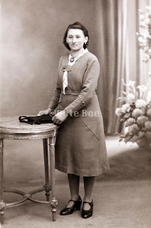 vintage studio portrait of adult woman