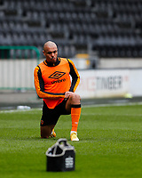 Hull City's Josh Magennis during the pre-match warm-up <br /> <br /> Photographer Lee Parker/CameraSport<br /> <br /> The EFL Sky Bet League One - Hull City v Bristol Rovers - Saturday 6th March 2021 - KCOM Stadium - Kingston upon Hull<br /> <br /> World Copyright © 2021 CameraSport. All rights reserved. 43 Linden Ave. Countesthorpe. Leicester. England. LE8 5PG - Tel: +44 (0) 116 277 4147 - admin@camerasport.com - www.camerasport.com