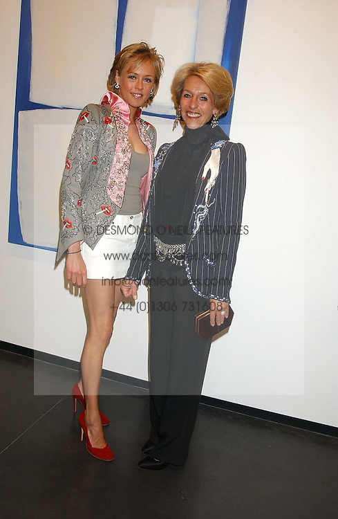 Left to right, LADY ALEXANDRA SPENCER-CHURCHILL and the DUCHESS OF MARLBOROUGH at a private view of paintings by Rosita Marlborough (The Duchess of Marlborough) held at Hamiltons gallery, Carlos Place, London W1 on 9th November 2005.<br /> <br /> NON EXCLUSIVE - WORLD RIGHTS