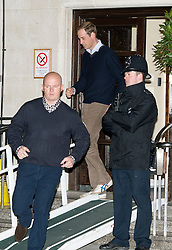 © London News Pictures. 05/12/2012. London, UK. Prince William leaving King Edward VII Hospital  in London after visiting The Duchess Of Cambridge, who is currently being treated for a type of severe morning sickness called hyperemesis gravidarum. The royal couple announced the pregnancy on Monday. Photo credit: Ben Cawthra/LNP