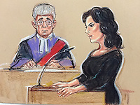 Justice Johnson listening to Nigella Lawson's evidence,<br />