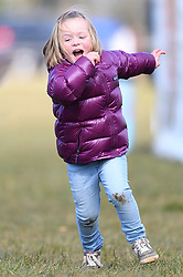 The Gatcombe Spring Horse Trials at Gatcombe Park, Minchinhampton, Gloucestershire, on the 25th March 2018. 25 Mar 2018 Pictured: Mia Tindall. Photo credit: James Whatling / MEGA TheMegaAgency.com +1 888 505 6342