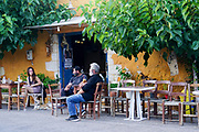 Outdoor cafe in Chania, Crete, Greece