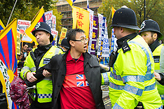 2015-10-21 Demonstrations as a President Xi Jinpeng of China visits Downing Street.