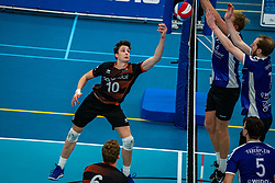 Luuk Hoge Bavel of Talent Team in action during the first league match in the corona lockdown between Talentteam Papendal vs. Vocasa on January 13, 2021 in Ede.
