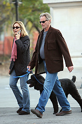 July 31, 2017 - FILE - SAM SHEPARD (born November 5, 1943, died: July 30, 2017), the Pulitzer Prize-winning playwright and Oscar-nominated actor, died at his home in Kentucky. He was 73. He died of complications of ALS aka Lou Gehrig's disease. Shepard authored more than 40 plays, winning the Pulitzer Prize for drama in 1979 for his play 'Buried Child.' The Broadway production of the drama was nominated for five Tony Awards in 1996. Pictured: November 8 2009, New York City Actress Jessica Lange and her partner Sam Shepard seen walking with thier dog in The Village on November 8 2009 in New York City  (Credit Image: © Sharkpixs/ZUMApress.com)