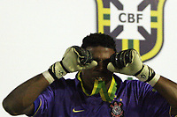 20090701: PORTO ALEGRE, BRAZIL - Internacional vs Corinthians: Brazilian Cup 2009 - Final - 2nd Leg. In picture: Filipe (Corinthians goalkeeper) celebrating victory. PHOTO: CITYFILES