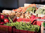 Fresh fruit and vegetables in a market in Valence, Drôme region, France