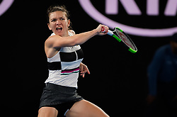 January 17, 2019 - Melbourne, AUSTRALIA - Simona Halep of Romania in action during the second round at the 2019 Australian Open Grand Slam tennis tournament (Credit Image: © AFP7 via ZUMA Wire)