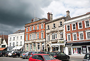 Buildings in market place Devizes, Wiltshire, England, UK