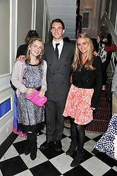 Left to right, LADY SYBILA HART, her brother VISCOUNT ERLEIGH and CRESSIDA BONAS at a reception hosted by Beulah London and the United Nations to launch Beulah London's AW'11 Collection 'Clothed in Love' and the Beulah Blue Heart Campaign held at Dorsia, 3 Cromwell Road, London SW7 on 18th October 2011.