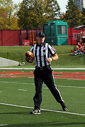 29 October 2016:  Back Judge Justin Staehr. NCAA FCS Football game between South Dakota State Jackrabbits and Illinois State Redbirds at Hancock Stadium in Normal IL (Photo by Alan Look)