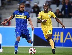 Cape Town-180818 Cape Town City defender Ebrahim Seedat challenged by Nkosinathio Sibisi of Golden Arrows in a PSL match at Cape Town Stadium .photograph:Phando Jikelo/African News Agency/ANA
