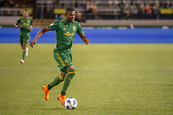 June 15, 2018 - Portland, Oregon, U.S. - PORTLAND, OR - JUNE 15:  Portland Timbers midfielder Dairon Asprilla leads a counter attack during the Portland Timbers game versus the LA Galaxy in a United States Open Cup match on June 15, 2018, at Providence Park, OR. (Photo by Diego G Diaz/Icon Sportswire) (Credit Image: © Diego Diaz/Icon SMI via ZUMA Press)