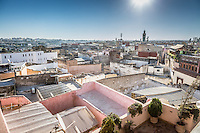 Views across the Old City in Meknes, Morocco.