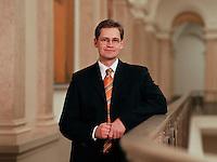 09 JAN 2004, BERLIN/GERMANY:<br /> Michael Mueller, SPD Fraktionsvorsitzender im Berliner Abgeordnetenhaus, Preussischer Landtag<br /> IMAGE: 20040109-01-04-03<br /> KEYWORDS: Michael Müller