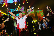 """The reigning champion Igor Svirid, One middleweight world champion from Kazakstanhe, who eventually lost his fight to challenger and eventual winner, Russian Vitaly Bigdash, Top middleweight champion.<br /><br />MMA. Mixed Martial Arts """"Tigers of Asia"""" cage fighting competition. Top professional male and female fighters from across Asia, Russia, Australia, Malaysia, Japan and the Philippines come together to fight. This tournament takes place in front of a ten thousand strong crowd of supporters in Pelaing Stadium. Kuala Lumpur, Malaysia. October 2015"""