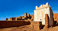 Profits shrine in the he Glaoui Kasbah of Tamedaght in the Ounilla valley set surrounded by the hammada (stoney) desert in the foothills of the Altas mountains, Tamedaght, Morroco. .<br /> <br /> Visit our MOROCCO HISTORIC PLAXES PHOTO COLLECTIONS for more   photos  to download or buy as prints https://funkystock.photoshelter.com/gallery-collection/Morocco-Pictures-Photos-and-Images/C0000ds6t1_cvhPo<br /> .<br /> <br /> Visit our ISLAMIC HISTORICAL PLACES PHOTO COLLECTIONS for more photos to download or buy as wall art prints https://funkystock.photoshelter.com/gallery-collection/Islam-Islamic-Historic-Places-Architecture-Pictures-Images-of/C0000n7SGOHt9XWI