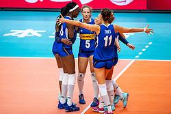 19-10-2018 JPN: Semi Final World Championship Volleyball Women day 18, Yokohama<br /> China - Italy / Paola Ogechi Egonu #18 of Italy, Ofelia Malinov #5 of Italy