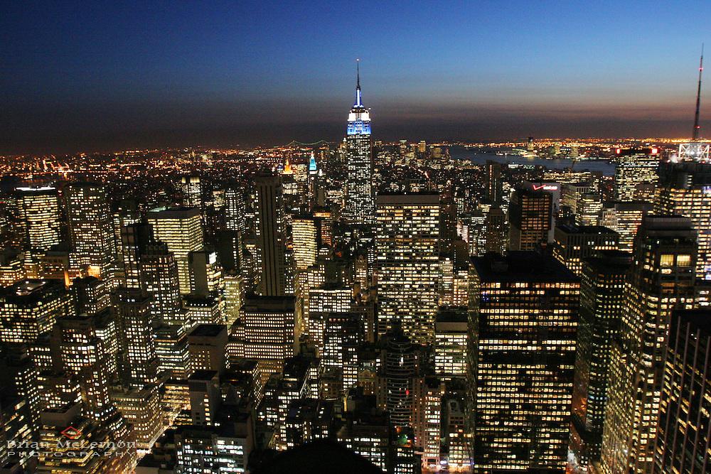 New York City skyline from Rockefeller Center, NY. Location photography by Portland Oregon photographer Brian McLernon.