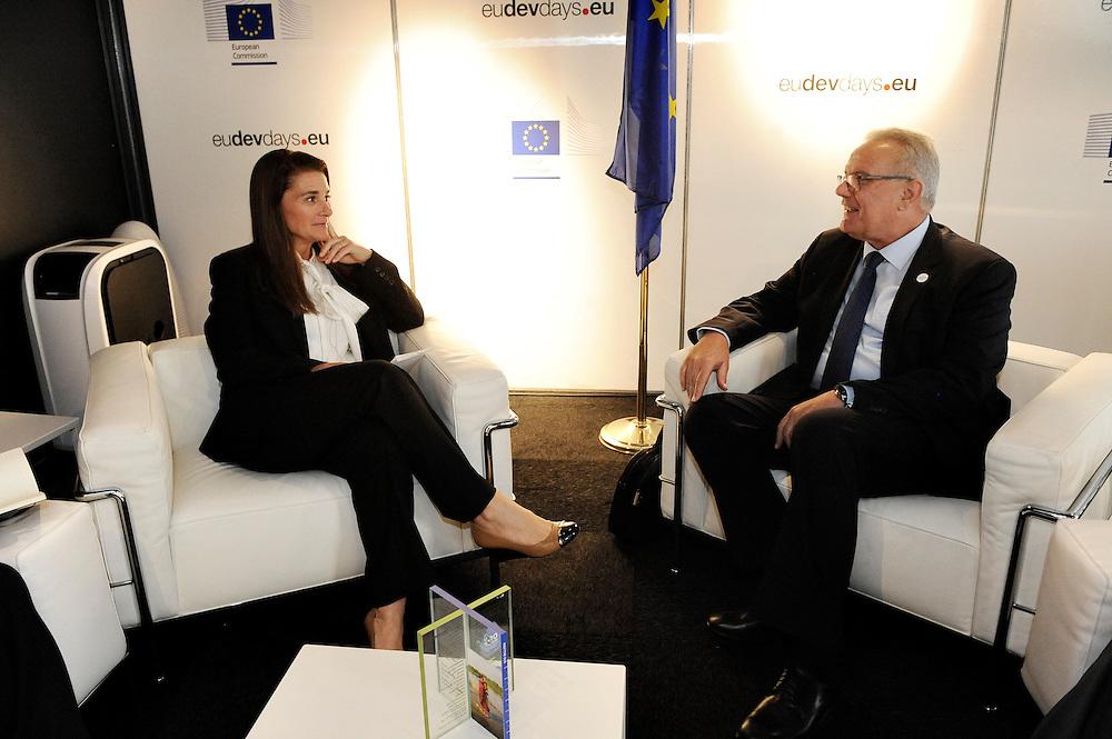 20150603- Brussels - Belgium - 03 June2015 - European Development Days - EDD  - Neven Mimica DEVCO and Melinda Gates  BMFG © EU/UE