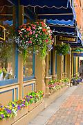 Brightly colored shopfronts in Aspen, Colorado