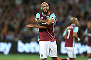 Simone Zaza of West Ham United  reacts after missing another chance to score. EFL Cup, 3rd round match, West Ham Utd v Accrington Stanley at the London Stadium, Queen Elizabeth Olympic Park in London on Wednesday 21st September 2016.<br /> pic by John Patrick Fletcher, Andrew Orchard sports photography.