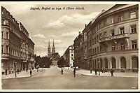 Zagreb : Pogled sa trga N (Nova četvrt). <br /> <br /> ImpresumZagreb : Naklada S. Marković, 1926.<br /> Materijalni opis1 razglednica : tisak ; 8,5 x 13,5 cm.<br /> NakladnikNaklada S. Marković<br /> Mjesto izdavanjaZagreb<br /> Vrstavizualna građa • razglednice<br /> ZbirkaZbirka razglednica • Grafička zbirka NSK<br /> Formatimage/jpeg<br /> PredmetZagreb –– Ulica Franje Račkoga<br /> SignaturaRZG-RACK-3<br /> Obuhvat(vremenski)20. stoljeće<br /> NapomenaRazglednica je putovala 1926. godine.<br /> PravaJavno dobro<br /> Identifikatori000954702<br /> NBN.HRNBN: urn:nbn:hr:238:871424 <br /> <br /> Izvor: Digitalne zbirke Nacionalne i sveučilišne knjižnice u Zagrebu