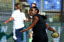 May 31, 2018 - Rome, Italy - Whitney Ashley (USA) competes in discus throw women during Golden Gala Iaaf Diamond League Rome 2018 at Olimpico Stadium in Rome, Italy on May 31, 2018. (Credit Image: © Matteo Ciambelli/NurPhoto via ZUMA Press)