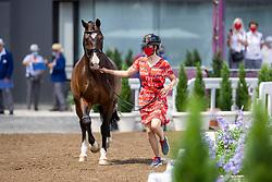 Roos Laurence, BEL, Fil Rouge, 111<br /> Olympic Games Tokyo 2021<br /> © Hippo Foto - Dirk Caremans<br /> 23/07/2021
