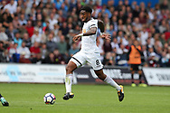 Leroy Fer of Swansea city in action. Premier league match, Swansea city v Manchester Utd at the Liberty Stadium in Swansea, South Wales on Saturday 19th August 2017.<br /> pic by  Andrew Orchard, Andrew Orchard sports photography.