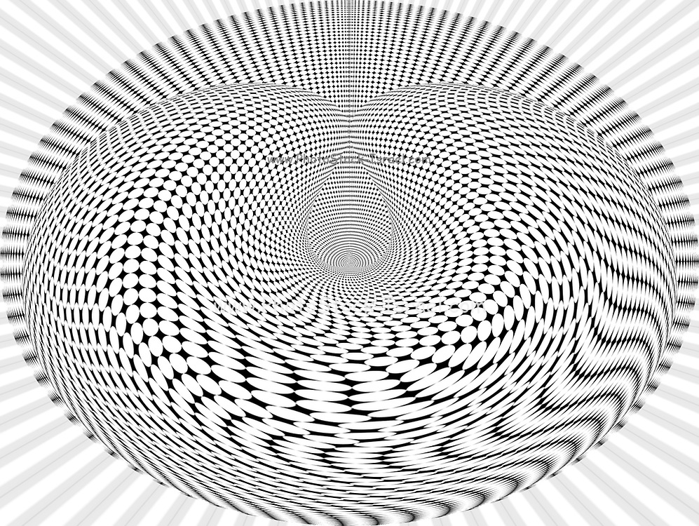 Computer generated geometric Op Art (Optical Art) image