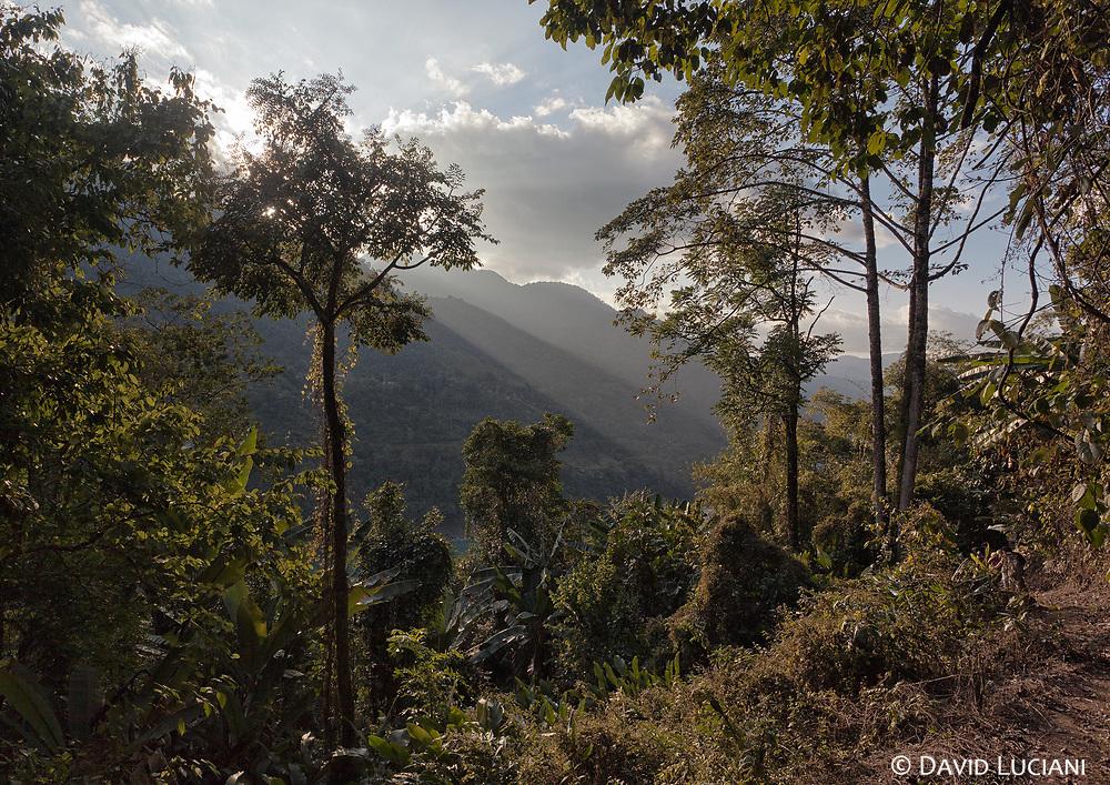 Sunrays seen on our way to Sisen village.