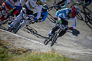 #77 (SAKAKIBARA Kai) AUS and #194 (VILLEGAS Federico) ARG at Round 4 of the 2018 UCI BMX Superscross World Cup in Papendal, The Netherlands