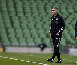 DUBLIN, REPUBLIC OF IRELAND - Sunday, October 11, 2020: Wales' manager Ryan Giggs after the UEFA Nations League Group Stage League B Group 4 match between Republic of Ireland and Wales at the Aviva Stadium. The game ended in a 0-0 draw. (Pic by David Rawcliffe/Propaganda)